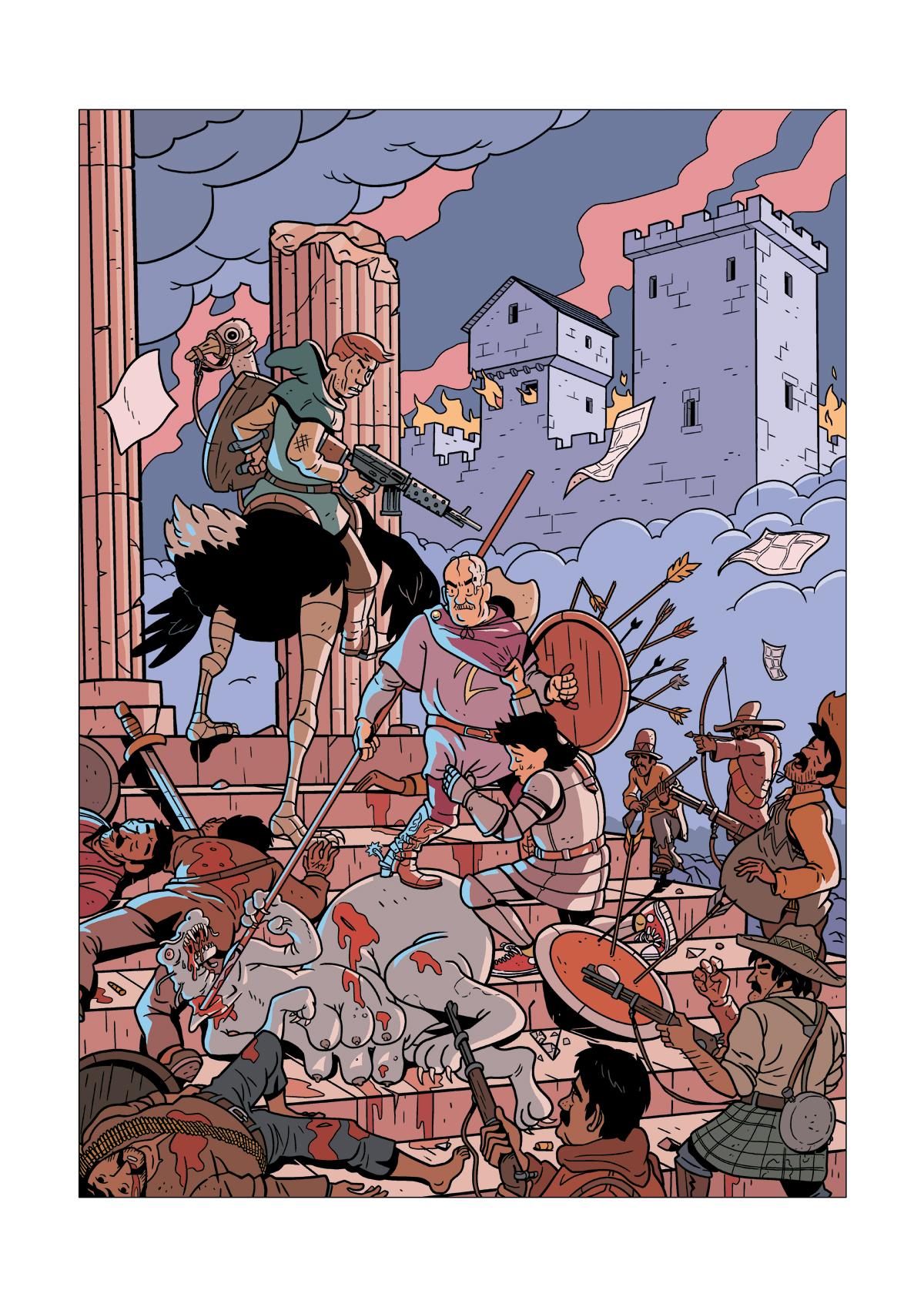 Gilbert Pinos terrassant le dragon, affiche d'Aurélien Maury