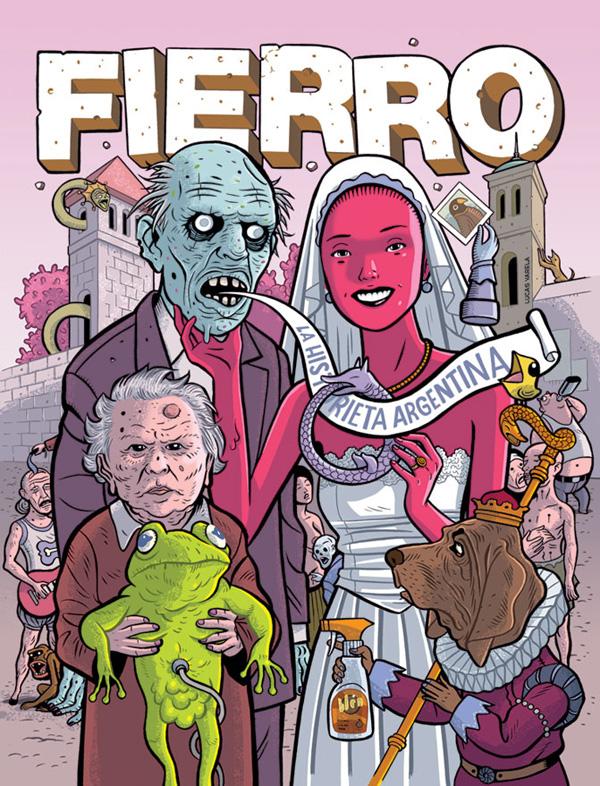 Couverture de Lucas Varela pour la revue Fierro