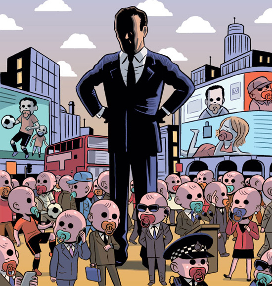 Illustration de Lucas Varela pour le Financial Times