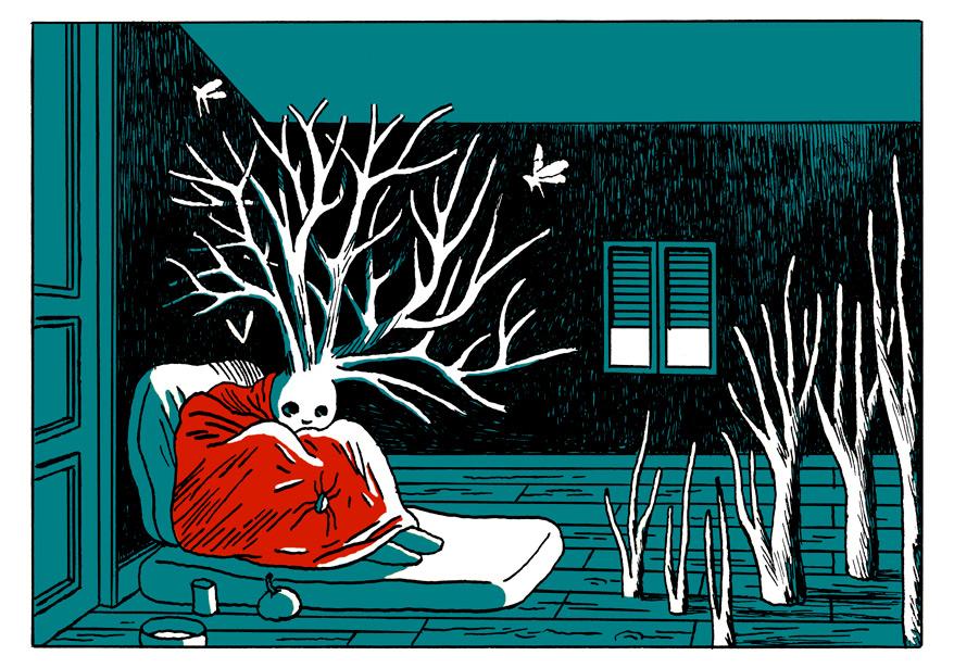 les monstres aux pieds d'argile, carte postale