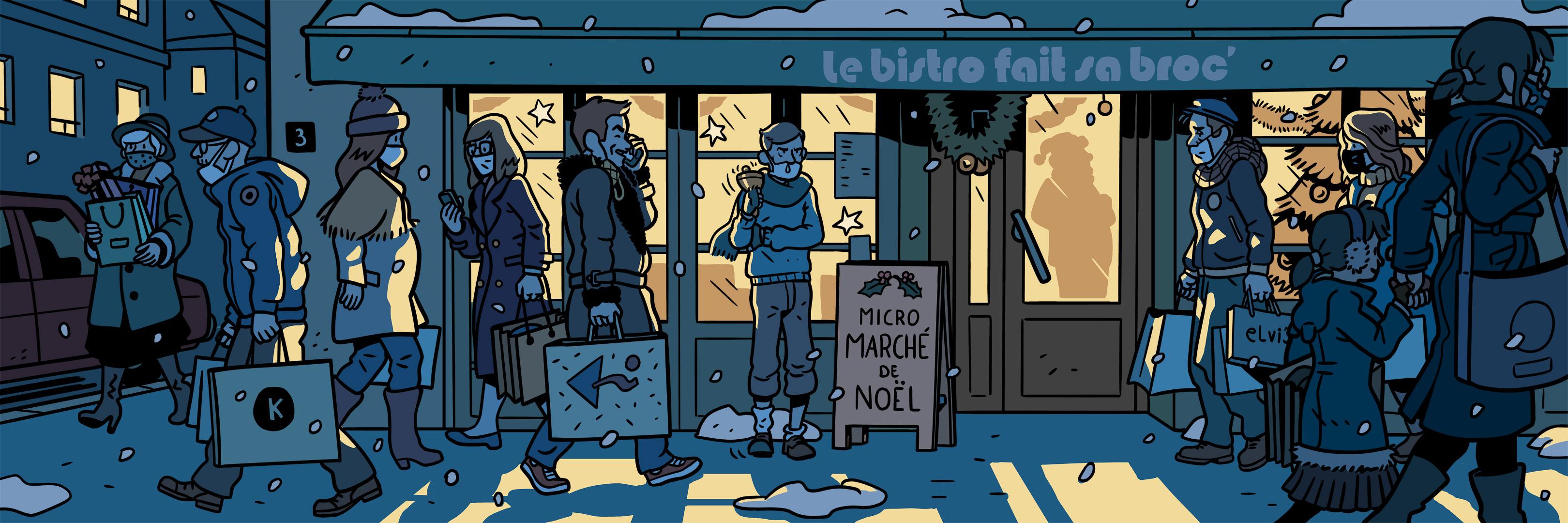 Micro marché de noël